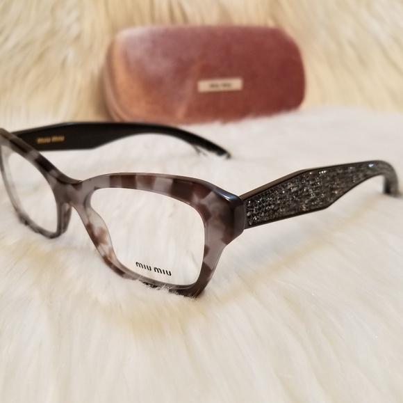 09f46c879a00 Miu Miu Eyeglasses Marble Glittery stone crystals